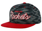 Houston Rockets Mitchell and Ness NBA Space Knit Strapback Cap Adjustable Hats