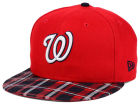 Washington Nationals New Era MLB Team Plaid 9FIFTY Snapback Cap Adjustable Hats