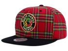 Chicago Blackhawks Mitchell and Ness NHL Plaid Snapback Cap Adjustable Hats