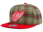 Detroit Red Wings Mitchell and Ness NHL Plaid Snapback Cap Adjustable Hats