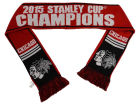 Chicago Blackhawks NHL 2015 Stanley Cup Champ Forever Collectibles Event Wordmark Scarf Belts, Gloves & Accessories