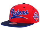 Detroit Pistons Mitchell and Ness NBA Billboard Script Snapback Cap Adjustable Hats