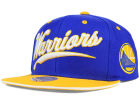 Golden State Warriors Mitchell and Ness NBA Billboard Script Snapback Cap Adjustable Hats