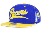 Indiana Pacers Mitchell and Ness NBA Billboard Script Snapback Cap Adjustable Hats