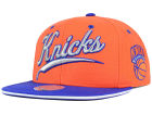 New York Knicks Mitchell and Ness NBA Billboard Script Snapback Cap Adjustable Hats