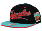 Vancouver Grizzlies Mitchell and Ness NBA Billboard Script Snapback Cap Adjustable Hats