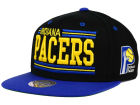 Indiana Pacers Mitchell and Ness NBA Team Block Snapback Cap Adjustable Hats