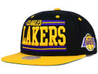 Los Angeles Lakers Mitchell and Ness NBA Team Block Snapback Cap Adjustable Hats