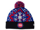 Detroit Pistons New Era NBA HWC Glowflake 2.0 Knit Hats