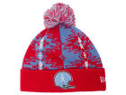 Houston Oilers New Era NFL Geo Split Knit Hats