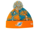 Miami Dolphins New Era NFL Geo Split Knit Hats