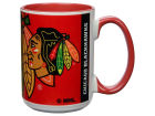 Chicago Blackhawks 15oz Super Fan Inner Color Mug Kitchen & Bar