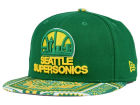 Seattle SuperSonics New Era NBA HWC Kaleidovize 9FIFTY Snapback Cap Adjustable Hats