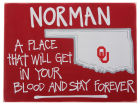 Oklahoma Sooners Map Board Collectibles