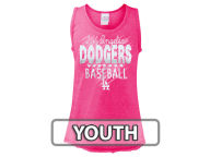 5th & Ocean MLB Girls Clear Glitter Tank Tanks