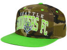 Seattle Sounders FC adidas MLS Camo Team Color Snapback Cap Adjustable Hats