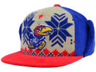 Kansas Jayhawks Top of the World NCAA Ugly Sweater Strapback Cap Adjustable Hats