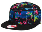 Cleveland Indians New Era MLB Dark Tropic 9FIFTY Snapback Cap Adjustable Hats