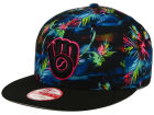 Milwaukee Brewers New Era MLB Dark Tropic 9FIFTY Snapback Cap Adjustable Hats