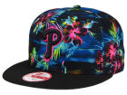 Philadelphia Phillies New Era MLB Dark Tropic 9FIFTY Snapback Cap Adjustable Hats