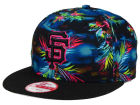 San Francisco Giants New Era MLB Dark Tropic 9FIFTY Snapback Cap Adjustable Hats