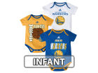 Golden State Warriors adidas NBA Infant 3 Point Spread Bodysuit Set Infant Apparel