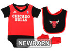 Chicago Bulls adidas NBA Newborn Creeper Bib & Bootie Set Infant Apparel