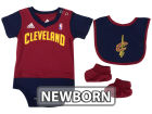 Cleveland Cavaliers adidas NBA Newborn Creeper Bib & Bootie Set Infant Apparel
