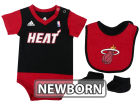 Miami Heat adidas NBA Newborn Creeper Bib & Bootie Set Infant Apparel