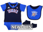 Oklahoma City Thunder adidas NBA Newborn Creeper Bib & Bootie Set Infant Apparel