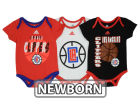 Los Angeles Clippers adidas NBA Newborn 3 Point Play Creeper Set Outfits