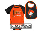 Oklahoma State Cowboys Colosseum NCAA Newborn Rookie Onesie & Bib Set Infant Apparel