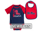 Mississippi Rebels Colosseum NCAA Newborn Rookie Onesie & Bib Set Infant Apparel