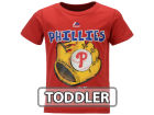 Philadelphia Phillies Majestic MLB Toddler Baseball Mitt T-Shirt T-Shirts