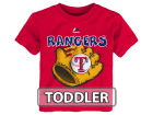 Texas Rangers Majestic MLB Toddler Baseball Mitt T-Shirt T-Shirts