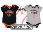 San Francisco Giants Majestic MLB Newborn Three Strikes Bodysuit Set Infant Apparel