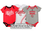 Cincinnati Reds Majestic MLB Newborn Three Strikes Bodysuit Set Infant Apparel