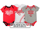Cincinnati Reds Majestic MLB Infant Three Strikes Bodysuit Set Infant Apparel