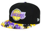 Los Angeles Lakers New Era NBA HWC Team Zag 9FIFTY Snapback Cap Adjustable Hats