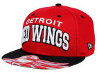 Detroit Red Wings New Era NHL Double Flip 9FIFTY Snapback Cap Adjustable Hats