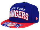 New York Rangers New Era NHL Double Flip 9FIFTY Snapback Cap Adjustable Hats
