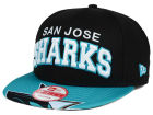San Jose Sharks New Era NHL Double Flip 9FIFTY Snapback Cap Adjustable Hats