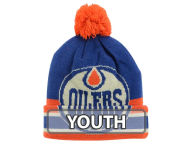 CCM Hockey NHL Youth Oversized Logo Cuffed Pom Knit Hats