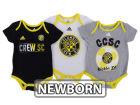 Columbus Crew SC adidas MLS Newborn Hat Trick Creeper Set Infant Apparel