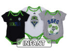 Seattle Sounders FC adidas MLS Infant Hat Trick Creeper Set Infant Apparel