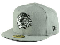 New Era NHL Heather Gray Black White 59FIFTY Cap Fitted Hats