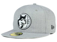 New Era NBA HWC Heather Black White 59FIFTY Cap Fitted Hats