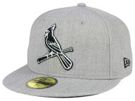 New Era MLB Heather Black White 59FIFTY Cap Fitted Hats