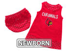 Louisville Cardinals Colosseum NCAA Newborn Girls Heartbeat Dress Set Infant Apparel