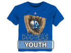 Los Angeles Dodgers Majestic MLB Youth Baseball Mitt T-Shirt T-Shirts